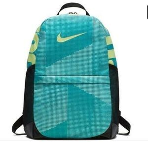 Nike Backpack Print JDI Blue Yellow Black Unisex